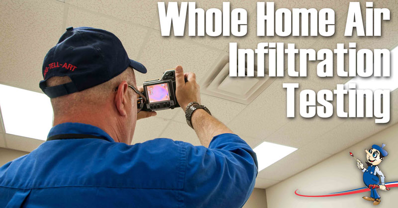 Indoor Air Quality Whole Home Air Infiltration Testing