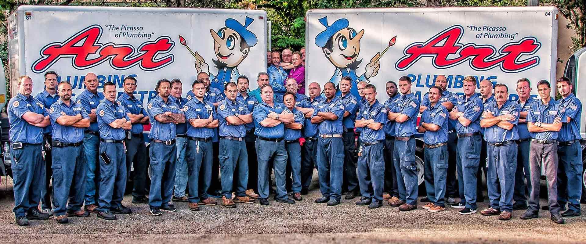 art plumbing ac and electric employees