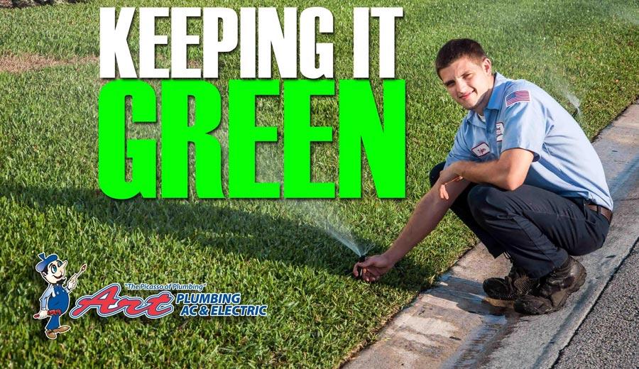 keeping lawns green - irrigation
