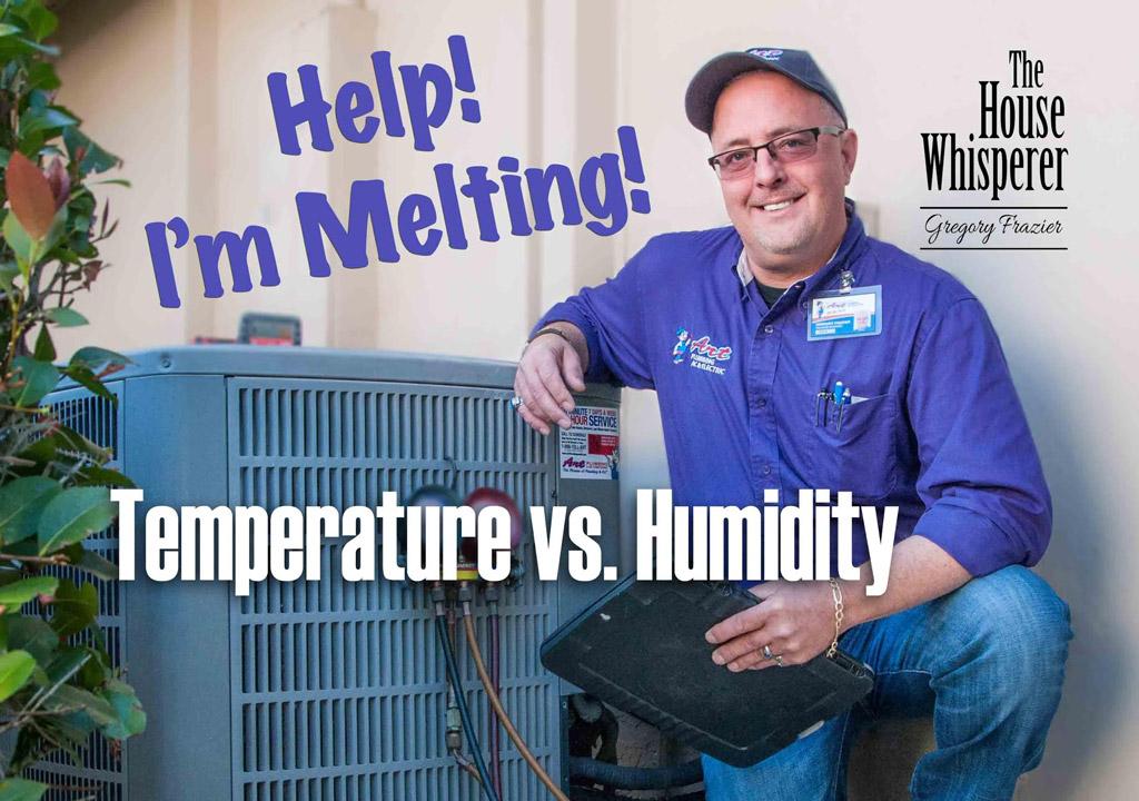 temperature vs humidity