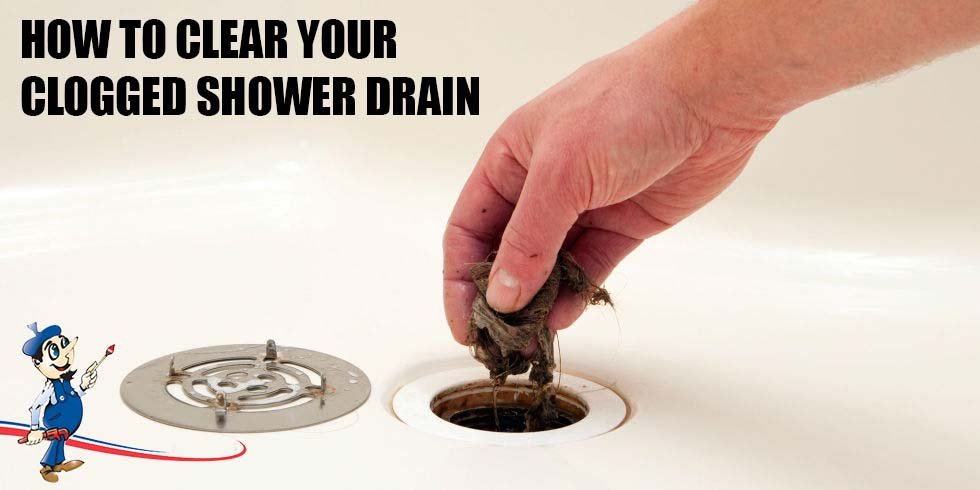 How to clear your clogged shower drain tips from a plumber for How to unclog a kitchen sink drain with standing water