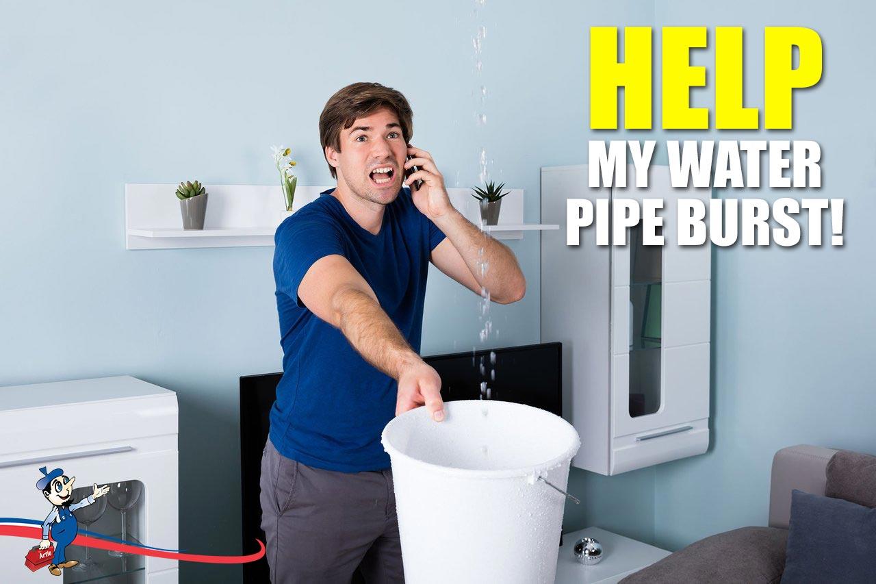 water pipe burst