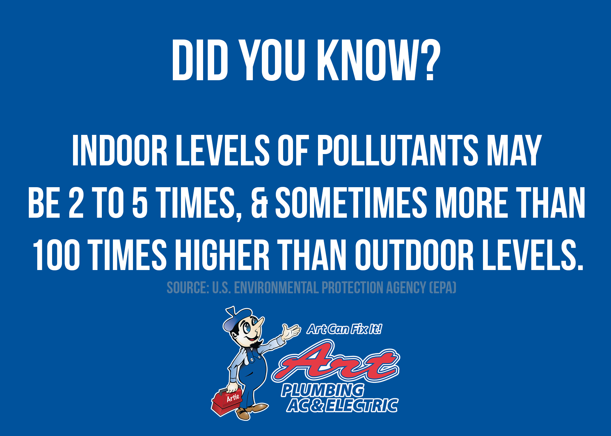 Did You Know Indoor Pollutants May Be 2-5 Times Higher Than Outdoor