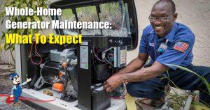 Whole-Home Generator Maintenance