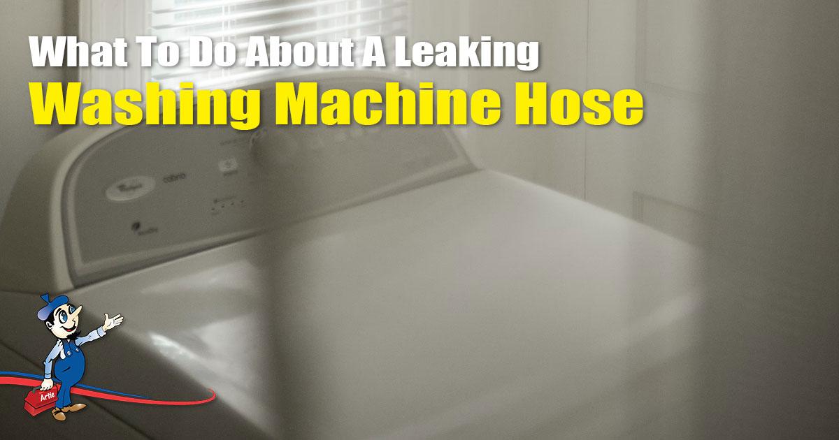 leaking washing machine hose